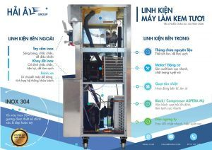 linh kiện máy làm kem hải âu