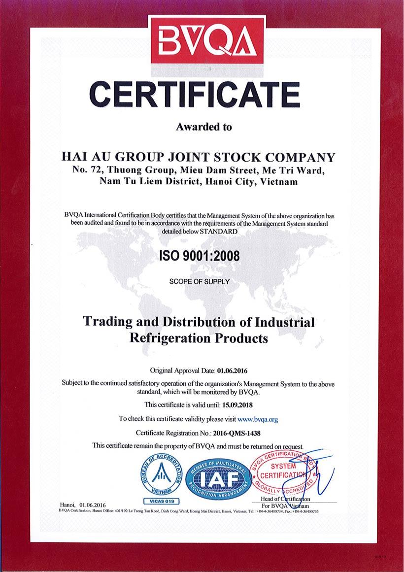 Hải Âu Group - ISO 9001:2008