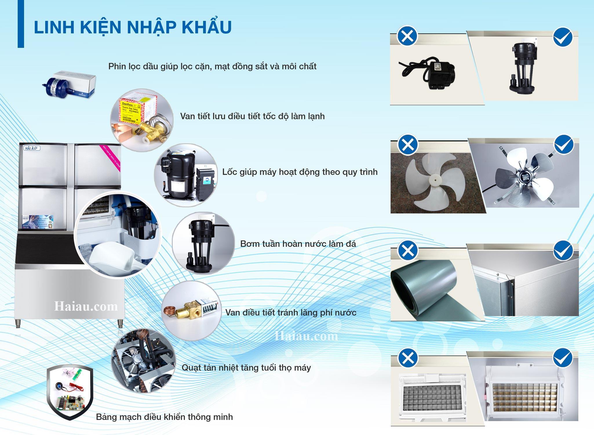 thiết kế linh kiện máy làm đá ha1800