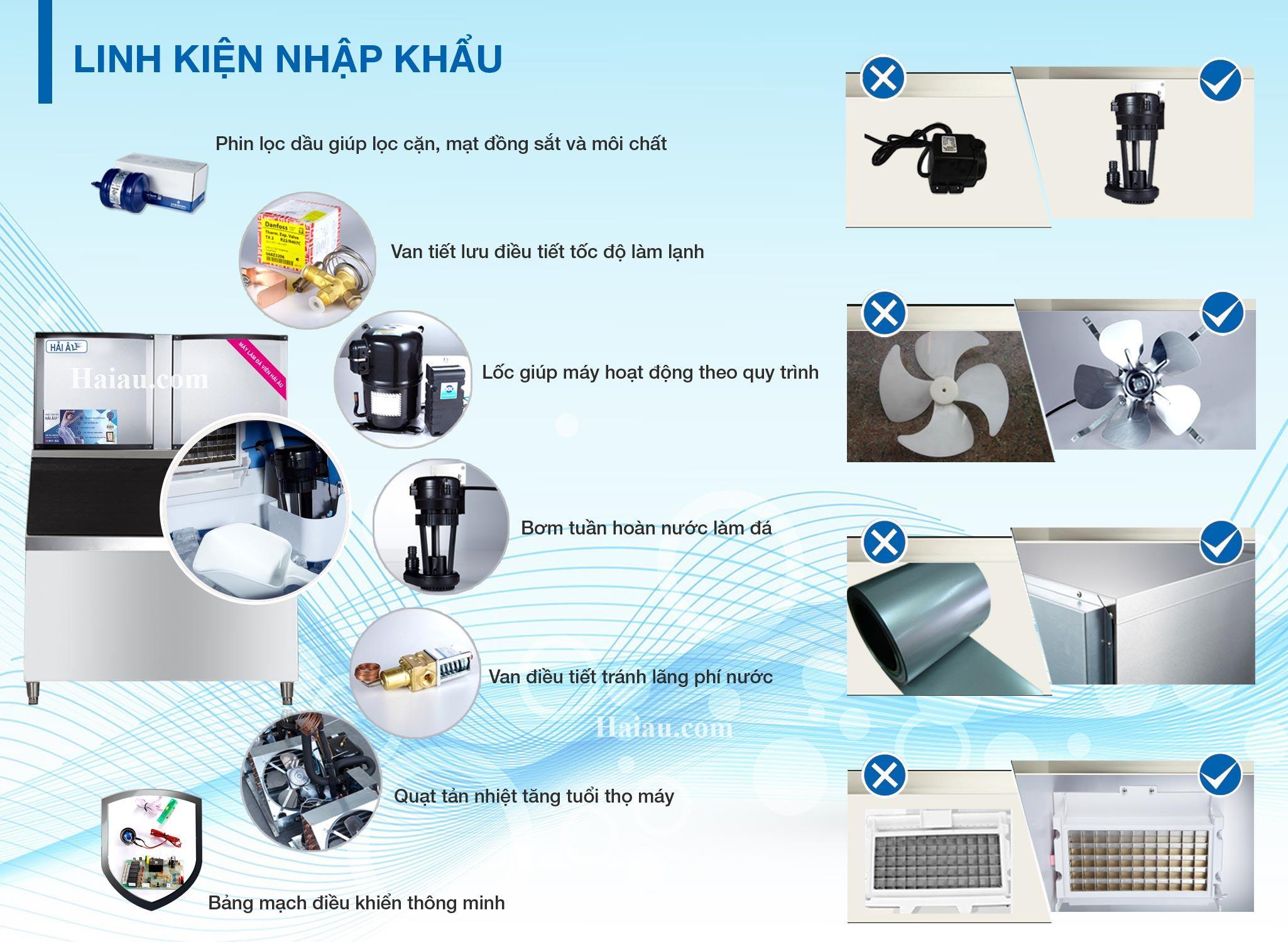 thiết kế linh kiện máy làm đá ha900