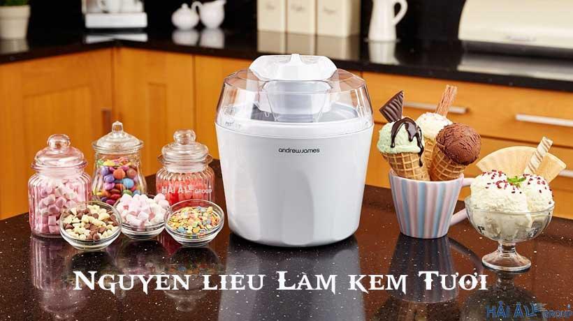 tìm hiểu nguyên liệu làm kem