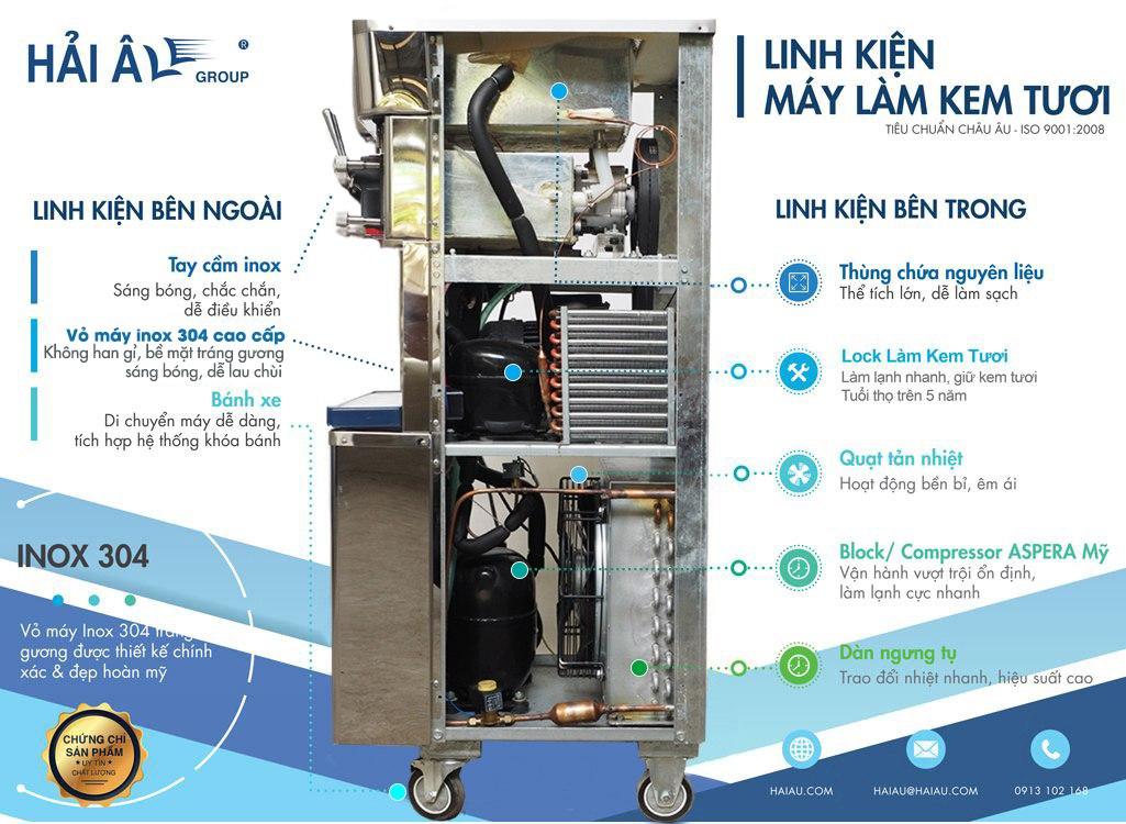 linh kiện máy làm kem hải âu hak 323