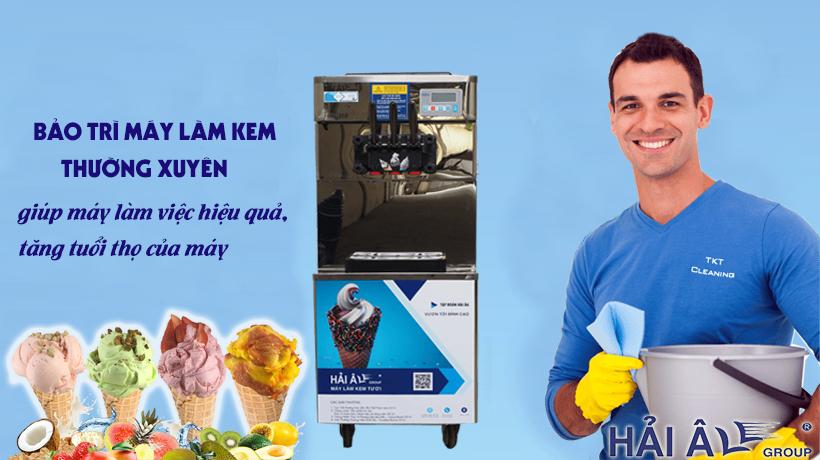 bảo trì, vệ sinh máy kem