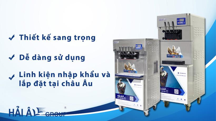 Làm kem tươi ngon với máy làm kem Hải Âu