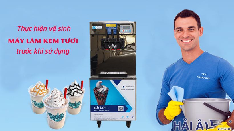 Vệ sinh máy kem