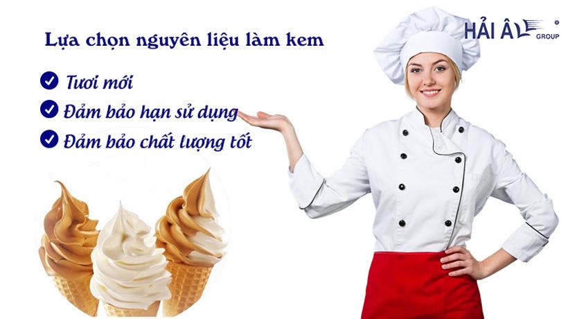 Cách làm kem tươi và bảo quản kem tươi