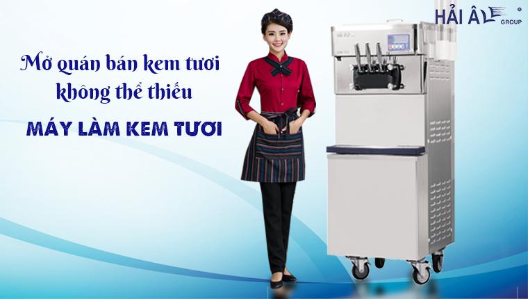 Bán kem tươi hiệu quả với máy kem