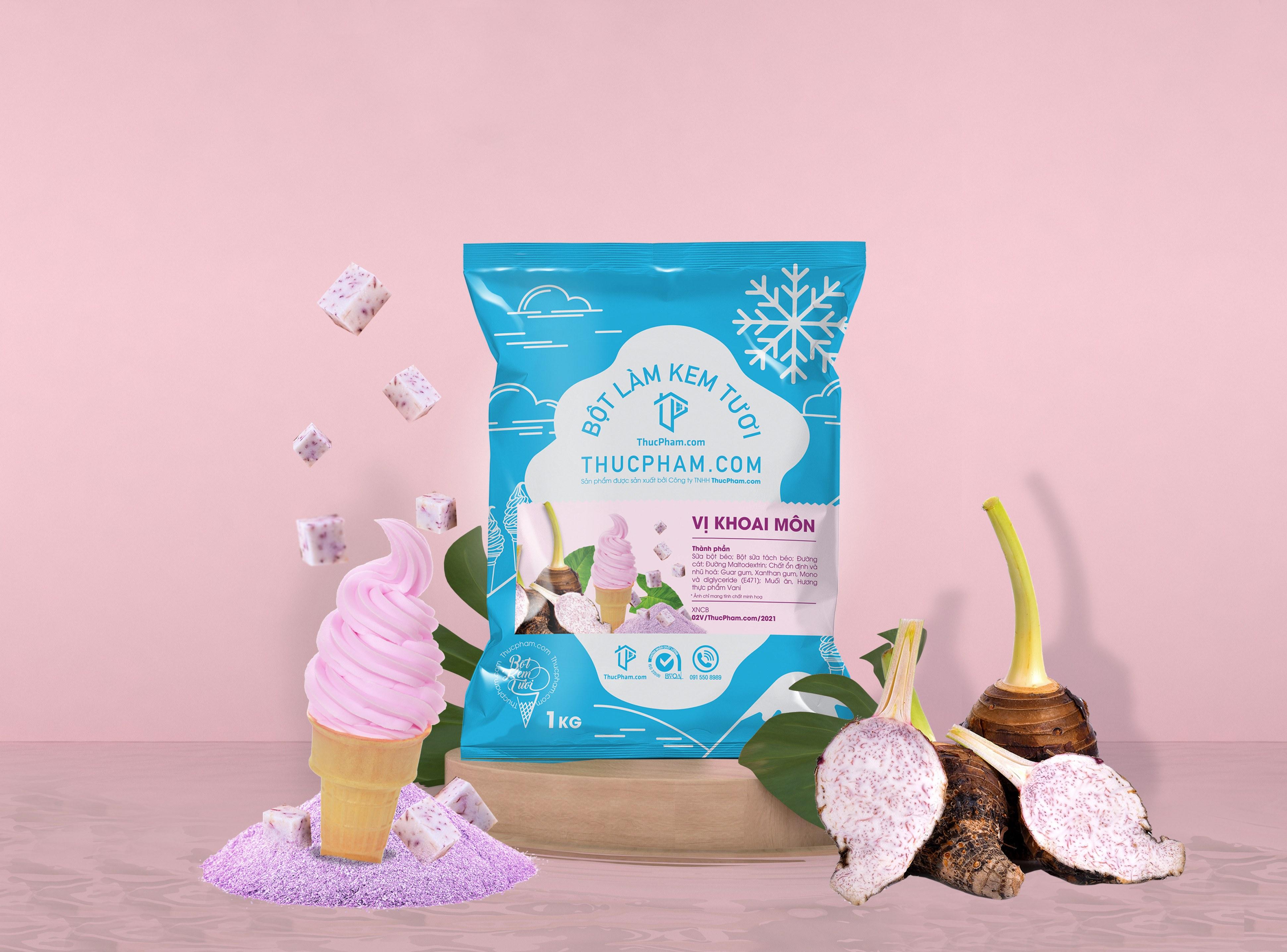 Bột làm kem tươi ThucPham.com vị Khoai Môn