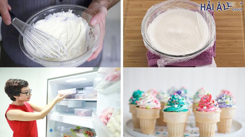 cách làm kem không cần máy