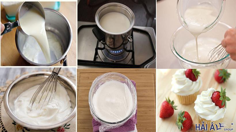 Cách làm kem từ sữa tươi