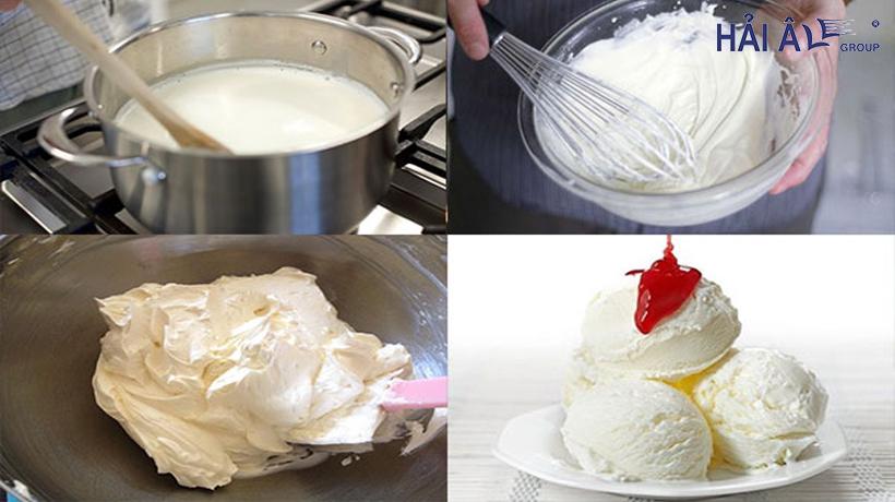 Cách làm kem tươi sữa chưa đơn giản