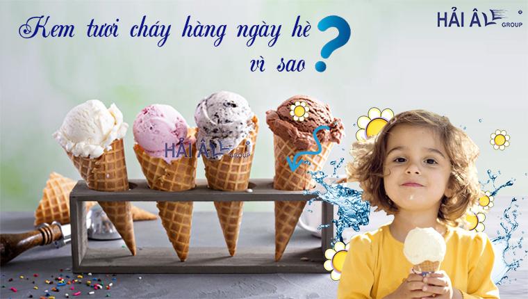 làm kem tươi để bán ngày hè
