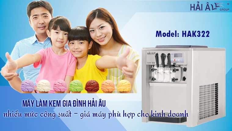 Máy làm kem gia đình phục vụ kinh doanh