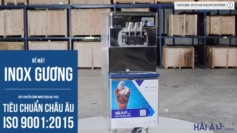 mau máy làm kem công nghệ hiện dạo