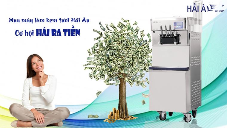 Mua máy làm kem tươi mini hái ra tiền