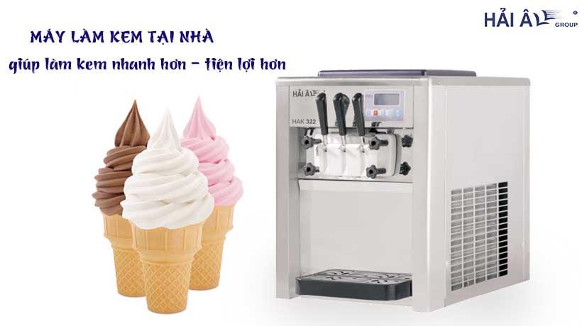 làm kem tại nhà với máy làm kem