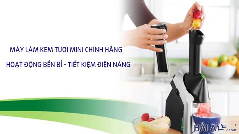 Máy làm kem tươi mini tại nhà chính hãng