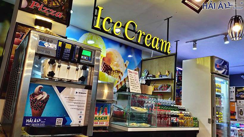 Máy làm kem tươi mini tại nhà hải âu
