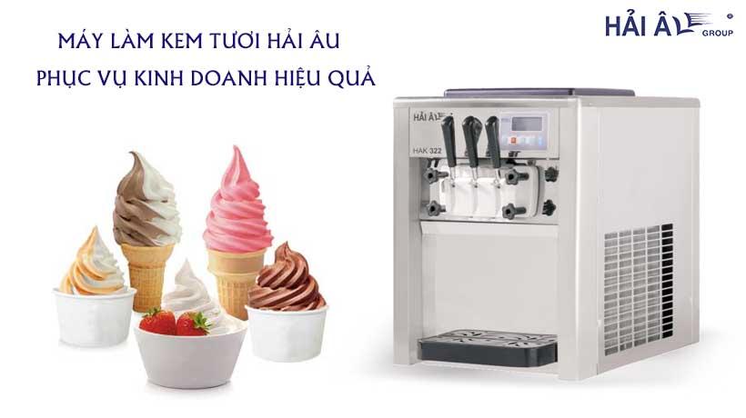 Mua máy kinh doanh kem tươi